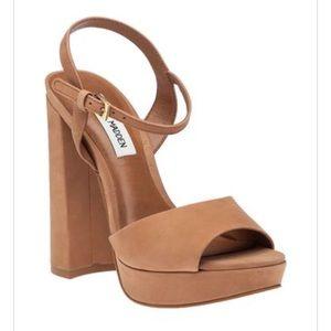 37f72f003829 Steve Madden Shoes - Steven Madden Kierra Camel Platform Heels